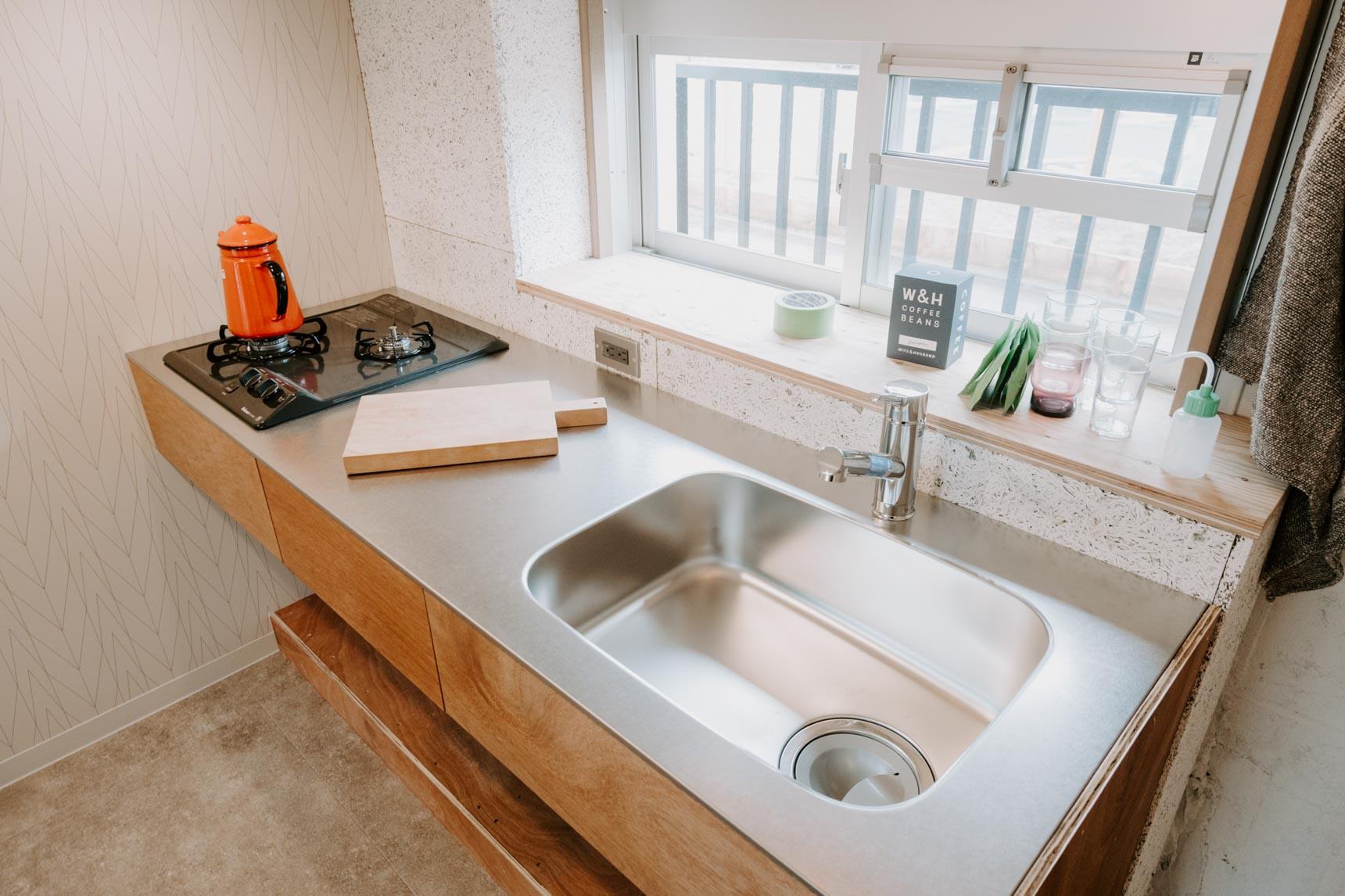キッチンもシンプルながら使いやすそうなデザインでカッコイイ!