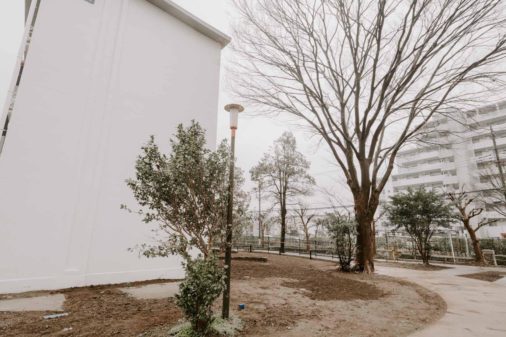 シンボルツリーの大きなけやきの木の下でバーベキューが楽しめます。