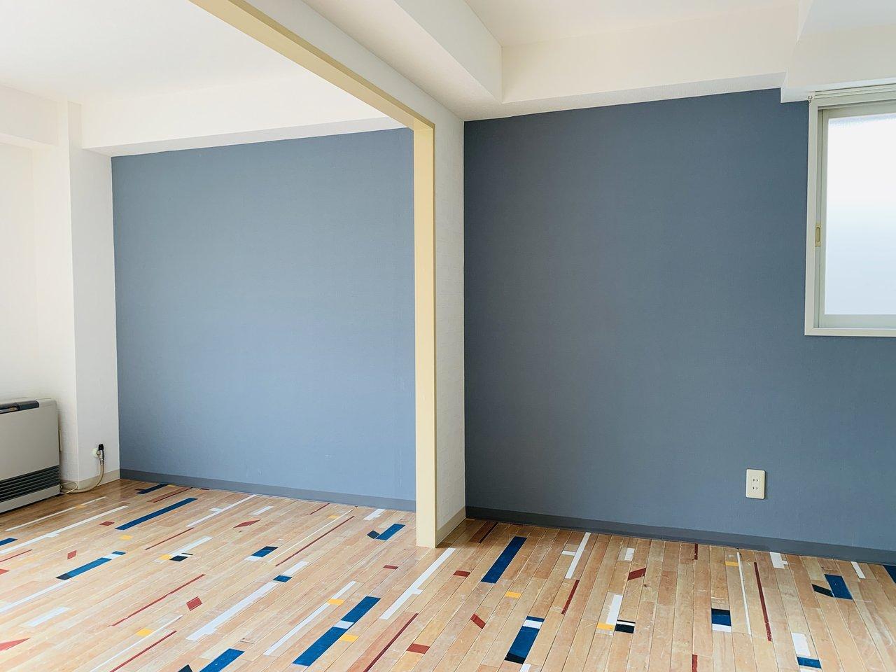 DK部分と洋室を仕切らなければ、より広々と暮らせます。両方合わせて13畳ほどの広さになりますよ。