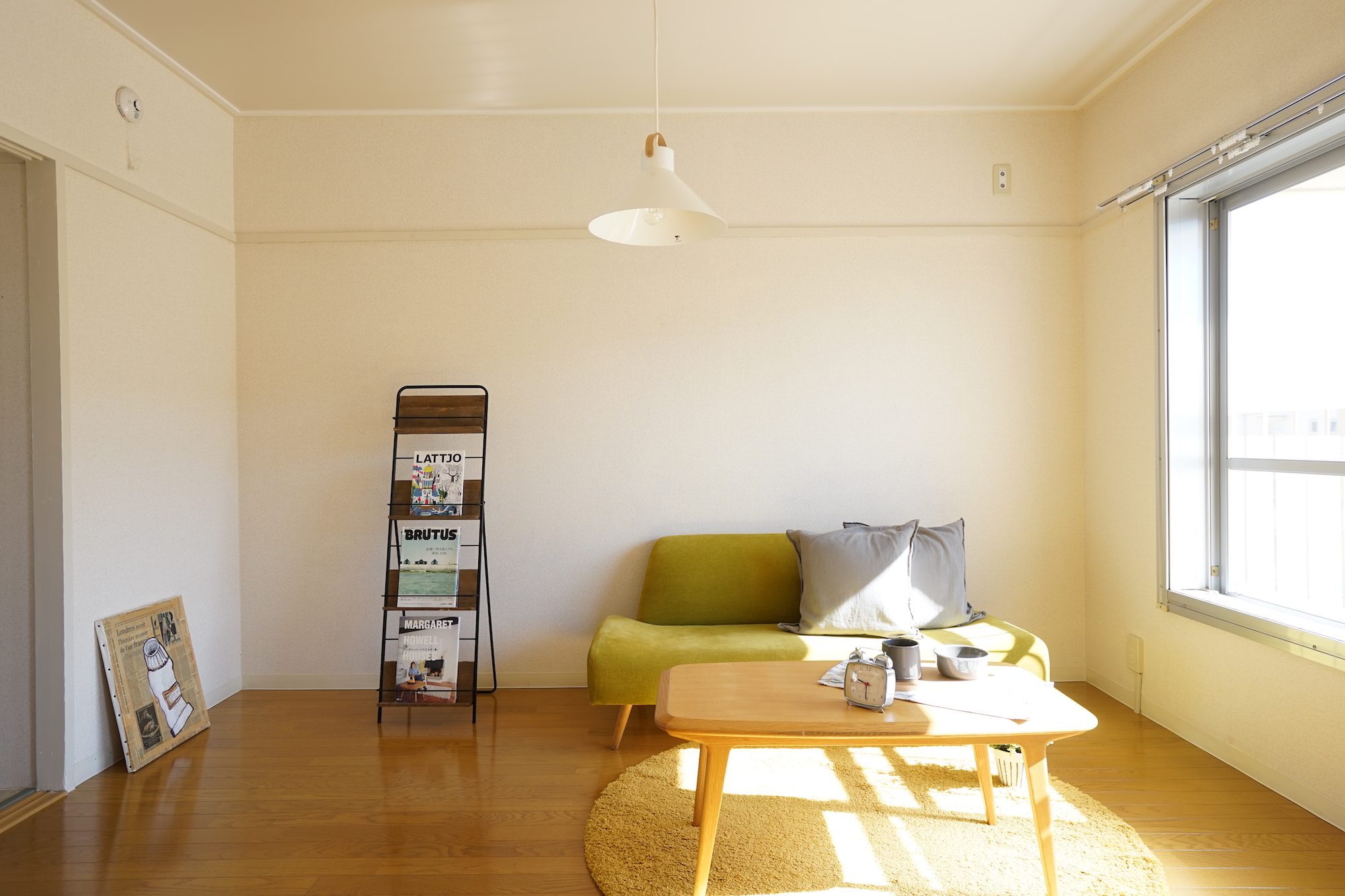 一人暮らしでも、ソファを置いたゆったりリビングのある暮らしがしたい!という方。