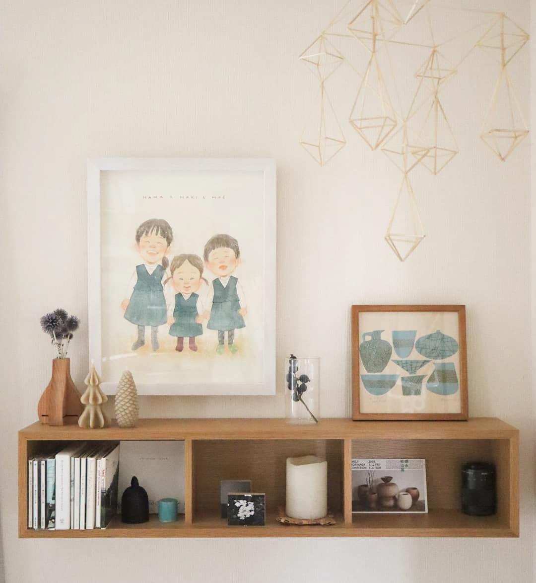 お子さんたちの似顔絵が描かれたイラストも、お部屋の雰囲気にとても合っていて素敵でした。