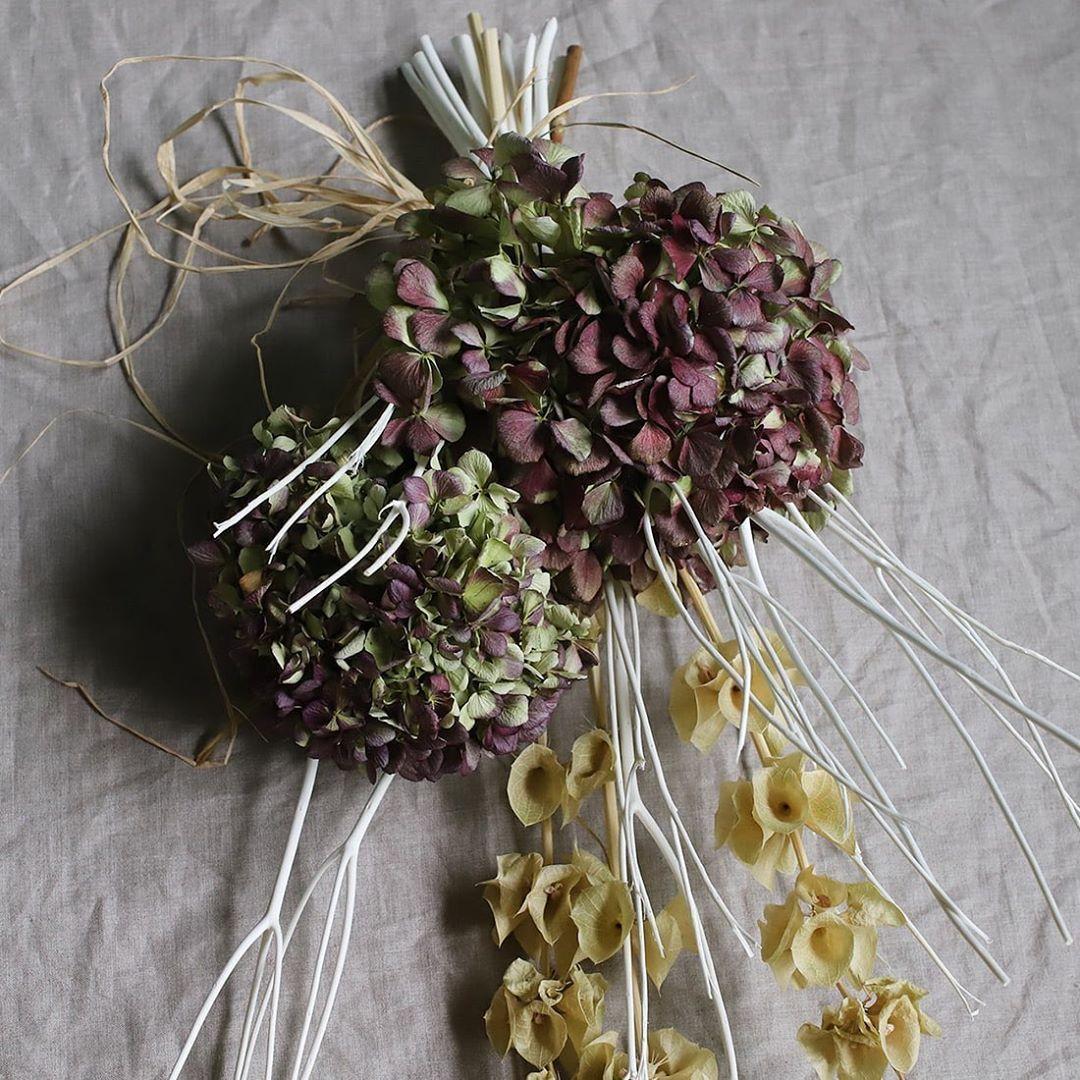 花言葉は「移り気」。紫陽花は土壌酸度や収穫のタイミングによって、花色が大きく変わる性質があるため、この花言葉の由来になったと言われています。