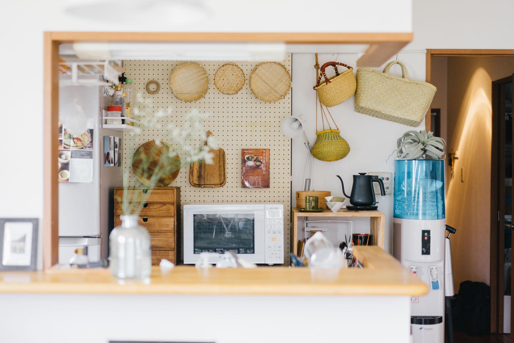 こちらはキッチンツールの中でも特にお気に入りのアイテムを有孔ボードにまとめたお部屋(このお部屋はこちら)