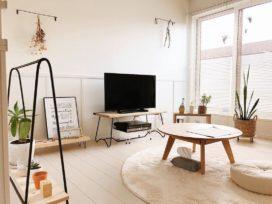 抜け感のある家具でつくる、シンプルな一人暮らしインテリア
