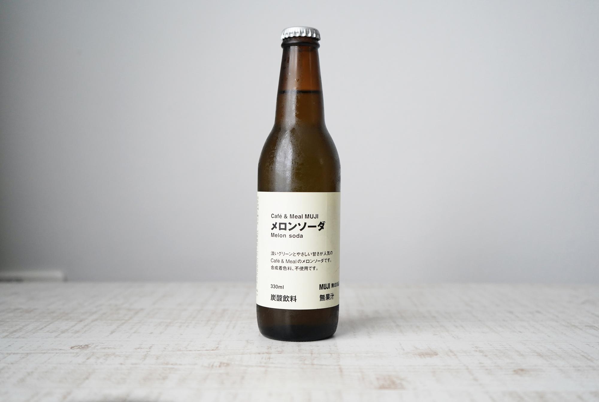特別感のある、瓶で売られている無印良品の「メロンソーダ」