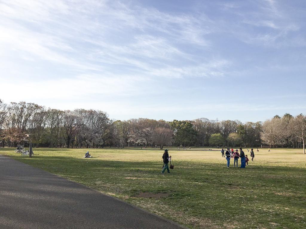 さて、最後は都立公園の中でも最大規模の広さを誇る「小金井公園」のある武蔵小金井へ。ドッグランやバーベキュー場もあるので、休日はとても賑わいます。平日も周辺の方が散歩をしていたり、シートを敷いて談笑していたり。とてもいい雰囲気の公園です。(武蔵小金井の街歩き記事はこちら)
