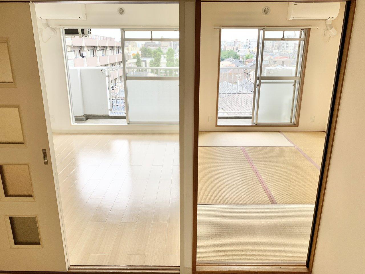 こちらはファミリー向けの3DKのお部屋。畳のお部屋もあって、和と洋のいいところを楽しめるお部屋です。