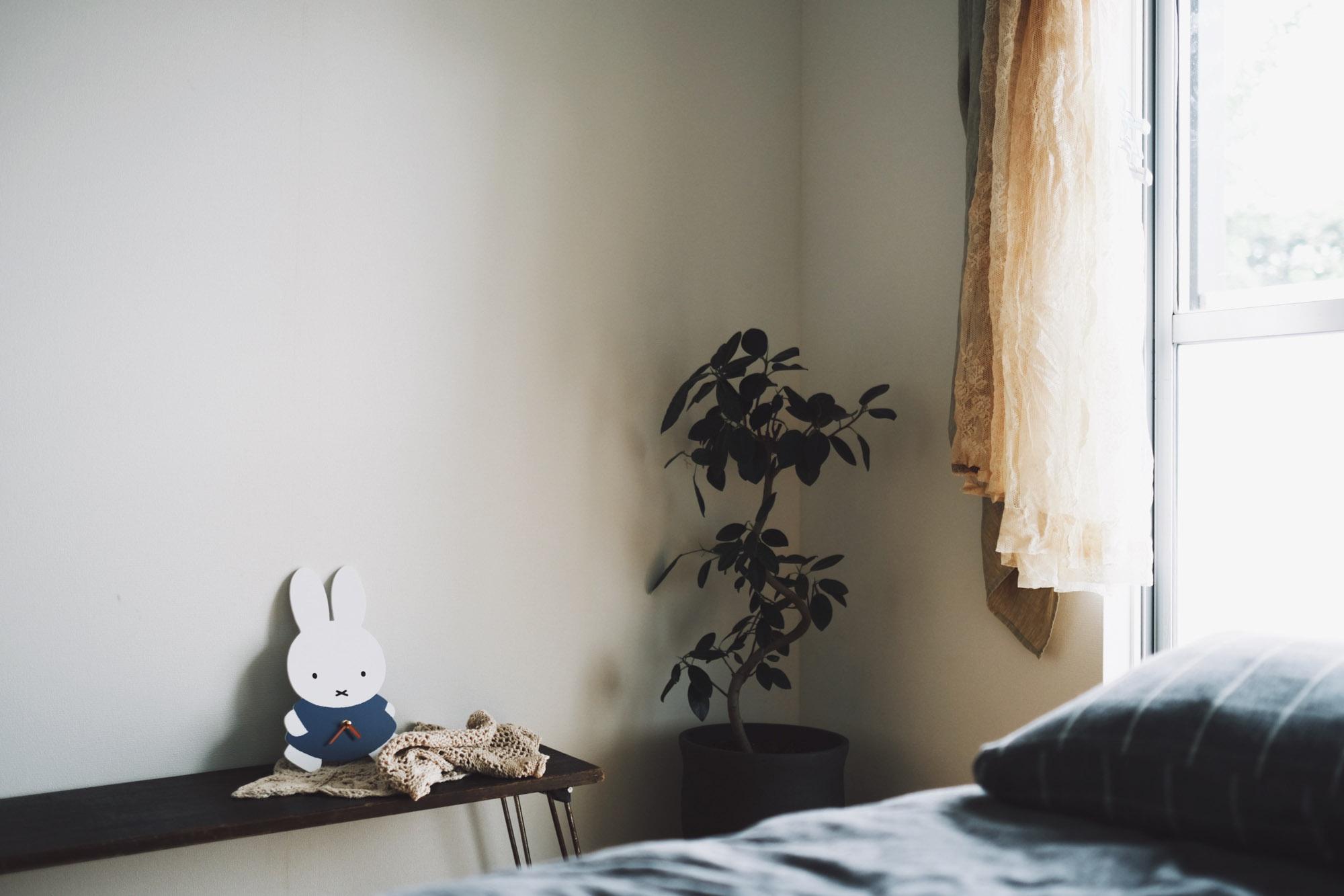 そして、お部屋のいろいろな場所にグリーンも欠かせません。風も光もよく入るお部屋だから、グリーンもよく似合います。