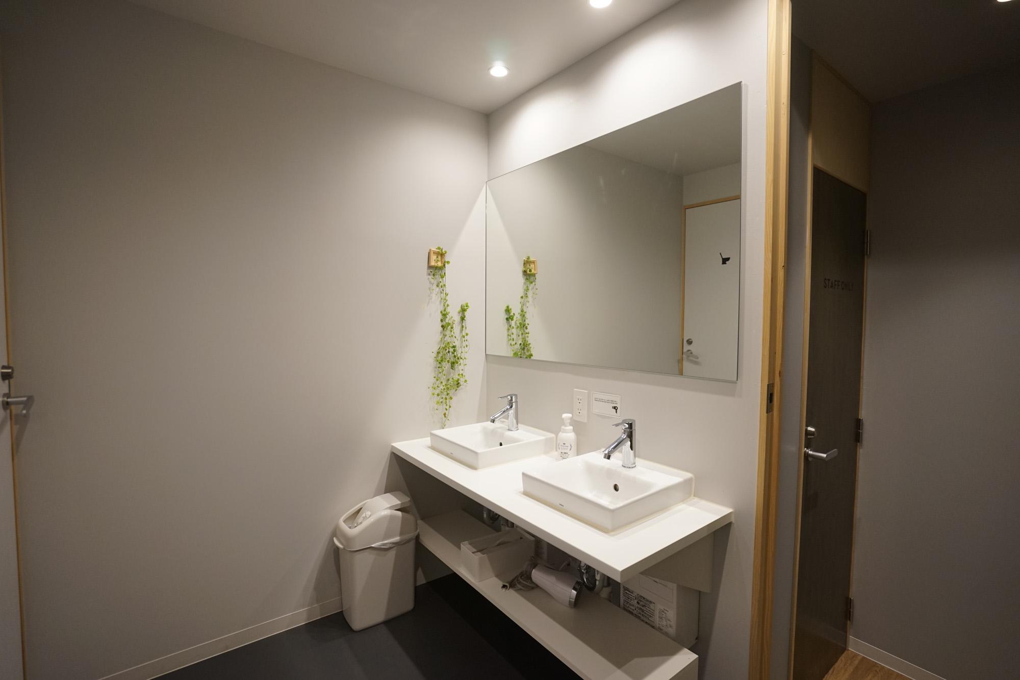 洗面台は2つ。いつも綺麗に保たれている雰囲気で、嬉しいです。
