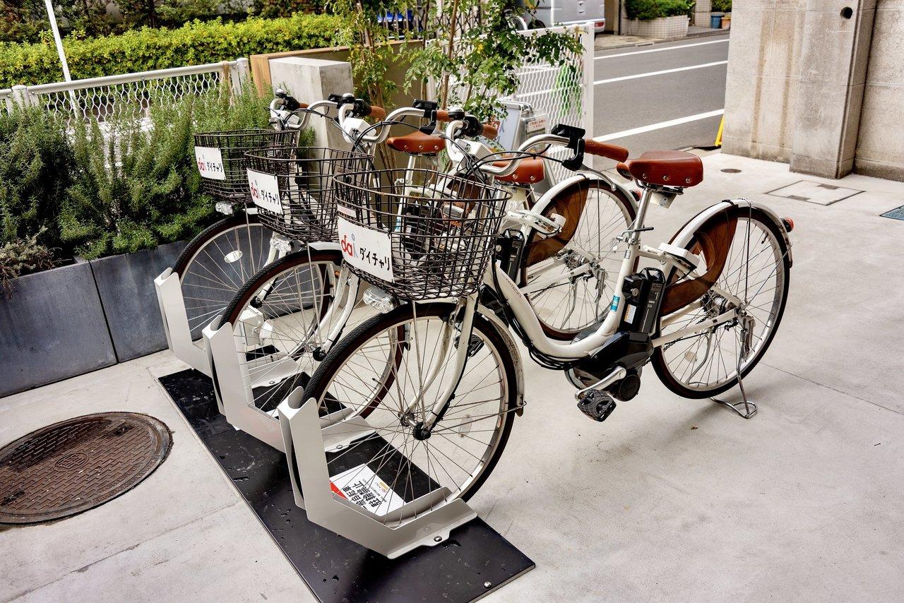 ホステルの敷地内にシェアサイクル「ダイチャリ」のポートもあるので、便利に使えそうですよ。