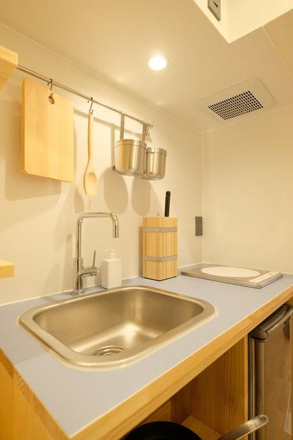 自分専用のキッチン、洗濯機がある暮らしはやはり便利。