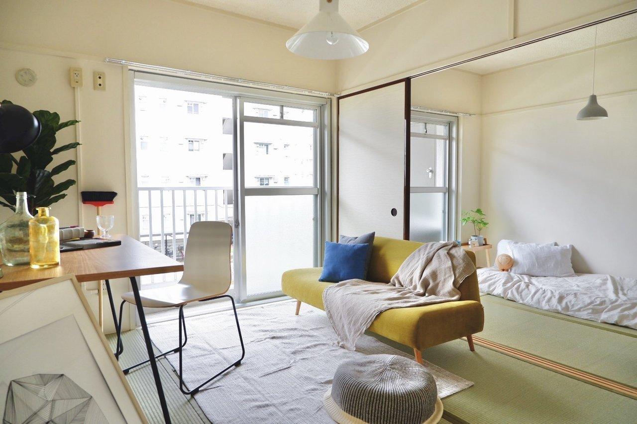 最後も和室2部屋とダイニングキッチンがついた2DKのお部屋。思い切って一人暮らしの方が広々と使ってもいいかも。