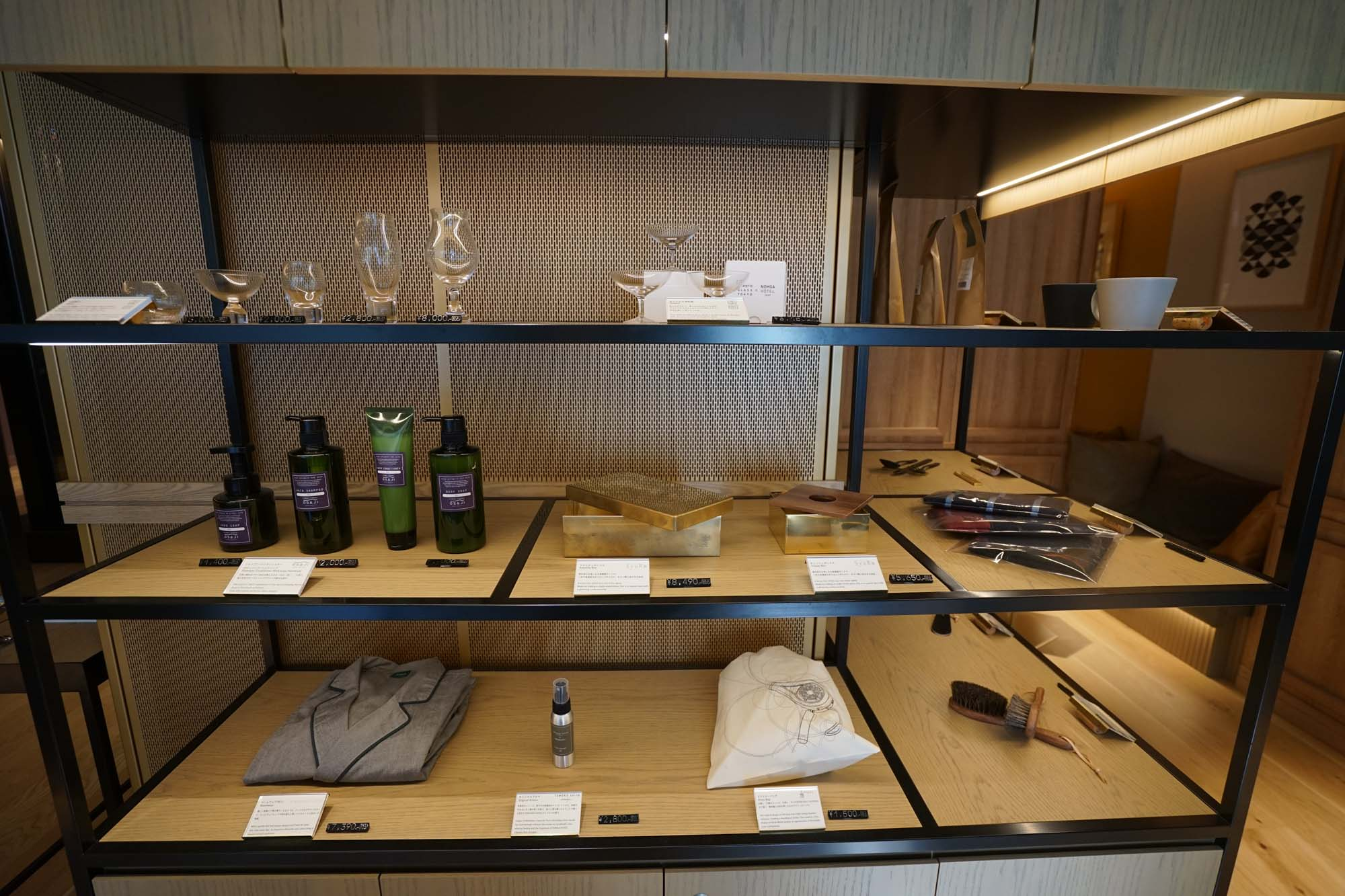 一部のプロダクトはホテル内で販売もされています。