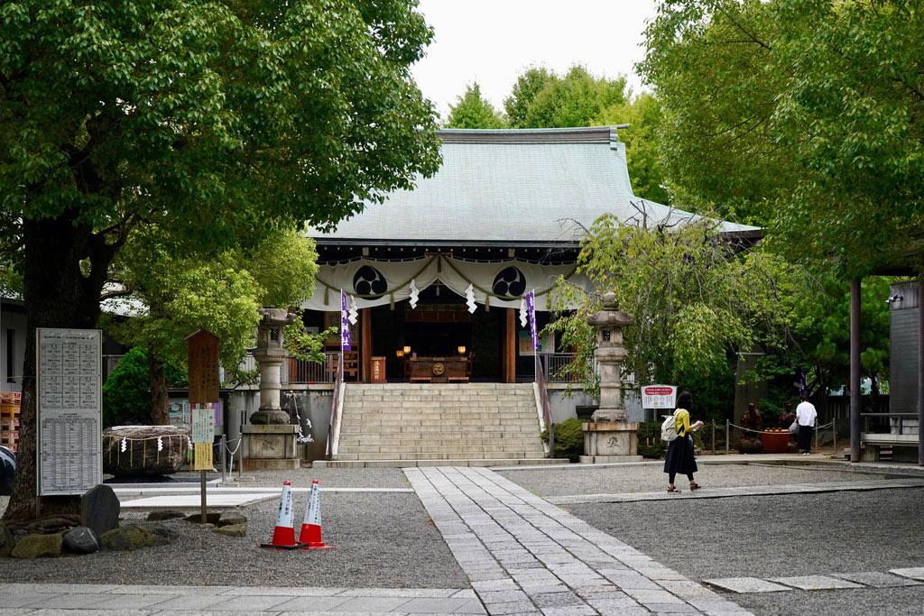 青々とした木々に囲まれている本殿。神秘的な空気感が漂っています。