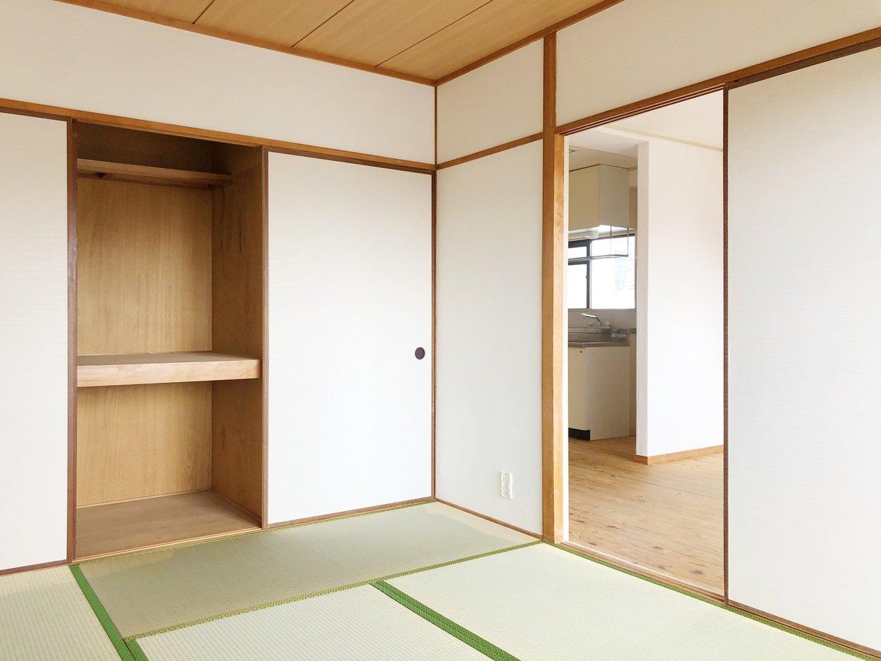 2つあるお部屋はどちらも和室です。その分、お家賃リーズナブル!