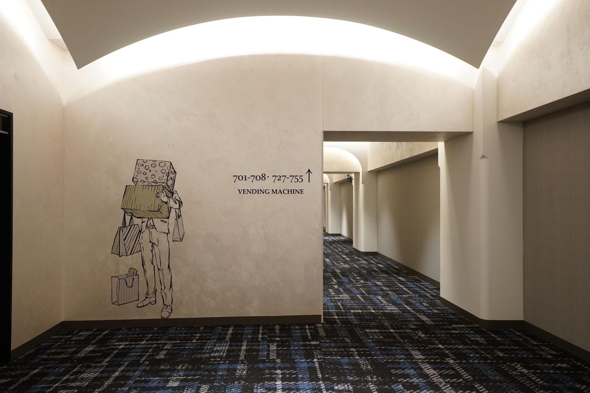 館内、いろんなところに描かれているイラストが可愛いです。