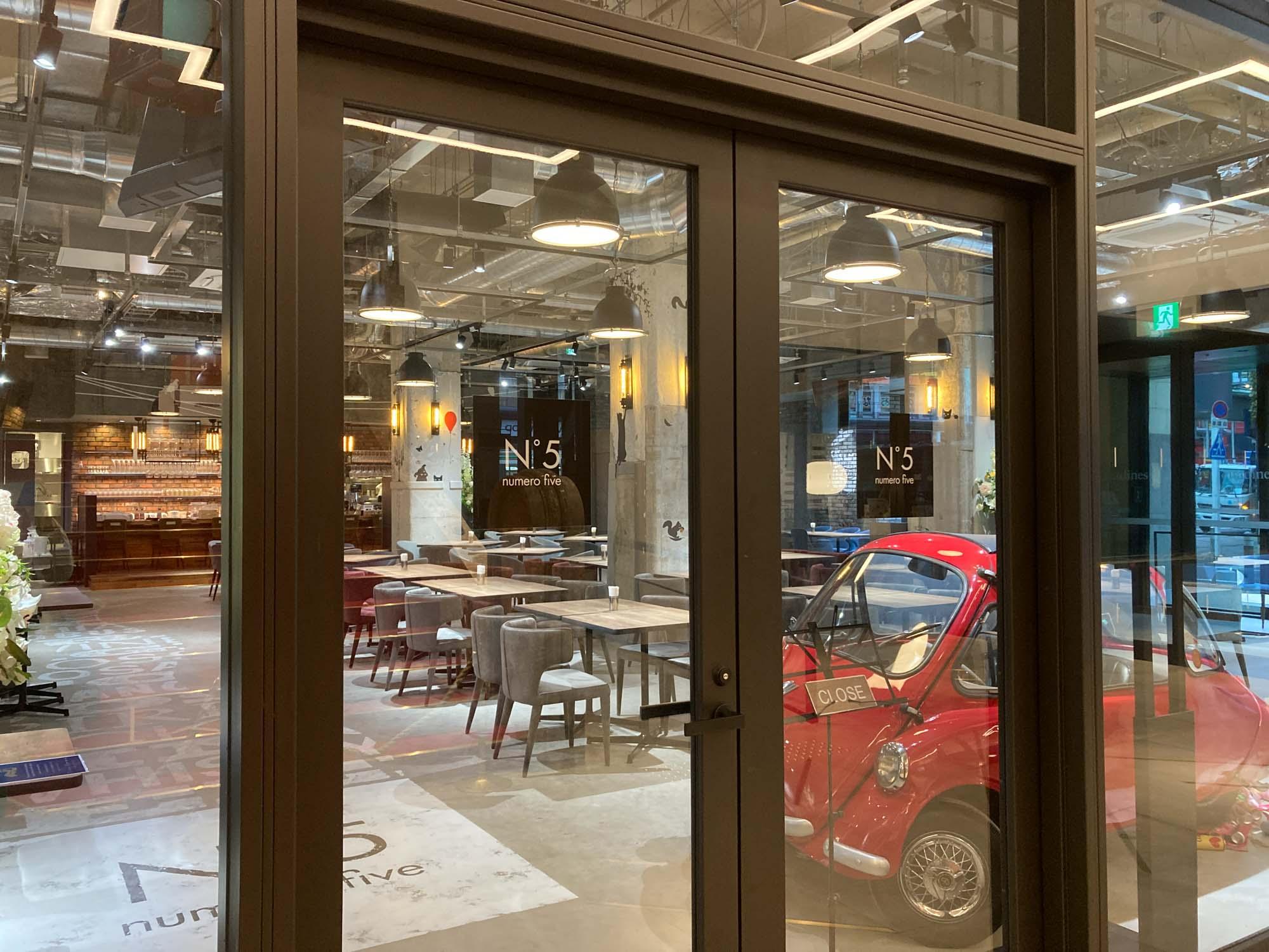 朝食がいただけるイタリアンレストラン「numero five」