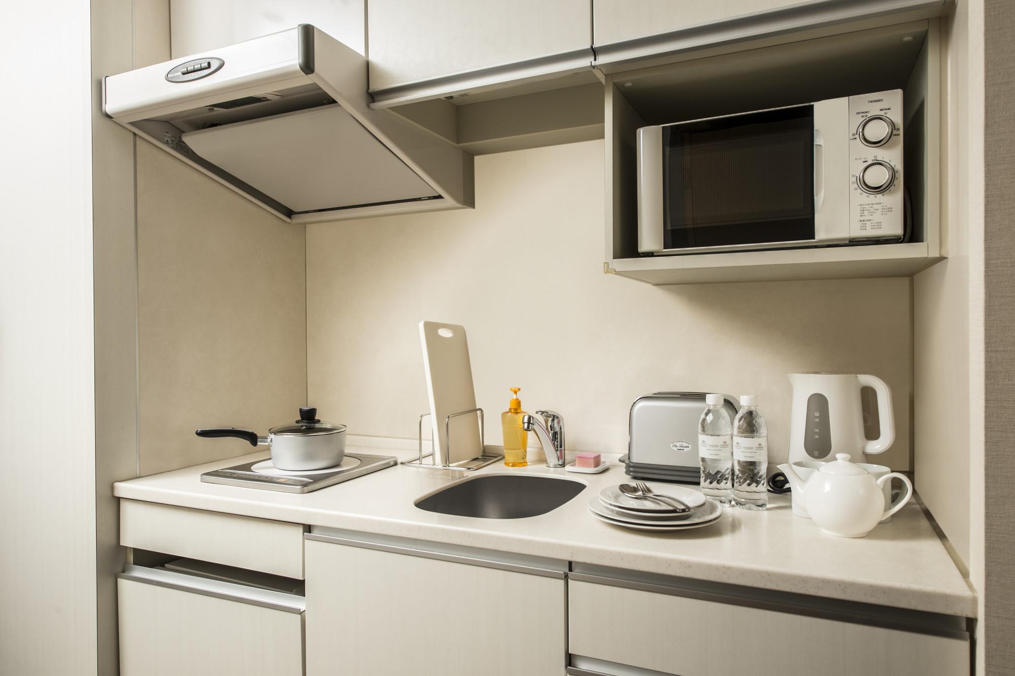 機能面は十分なミニキッチンが付いていますので、憧れの京都での暮らしをこのお部屋から始めてみる、というのもおすすめです
