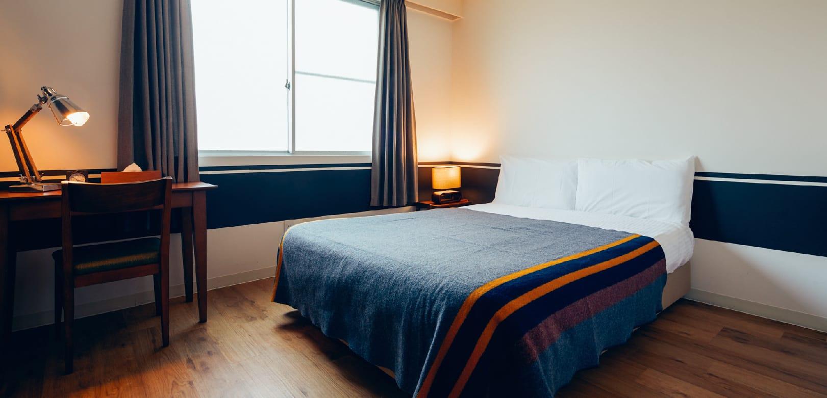 ホステルというとドミトリーのイメージかもしれませんが、個室タイプのお部屋も選べますよ。