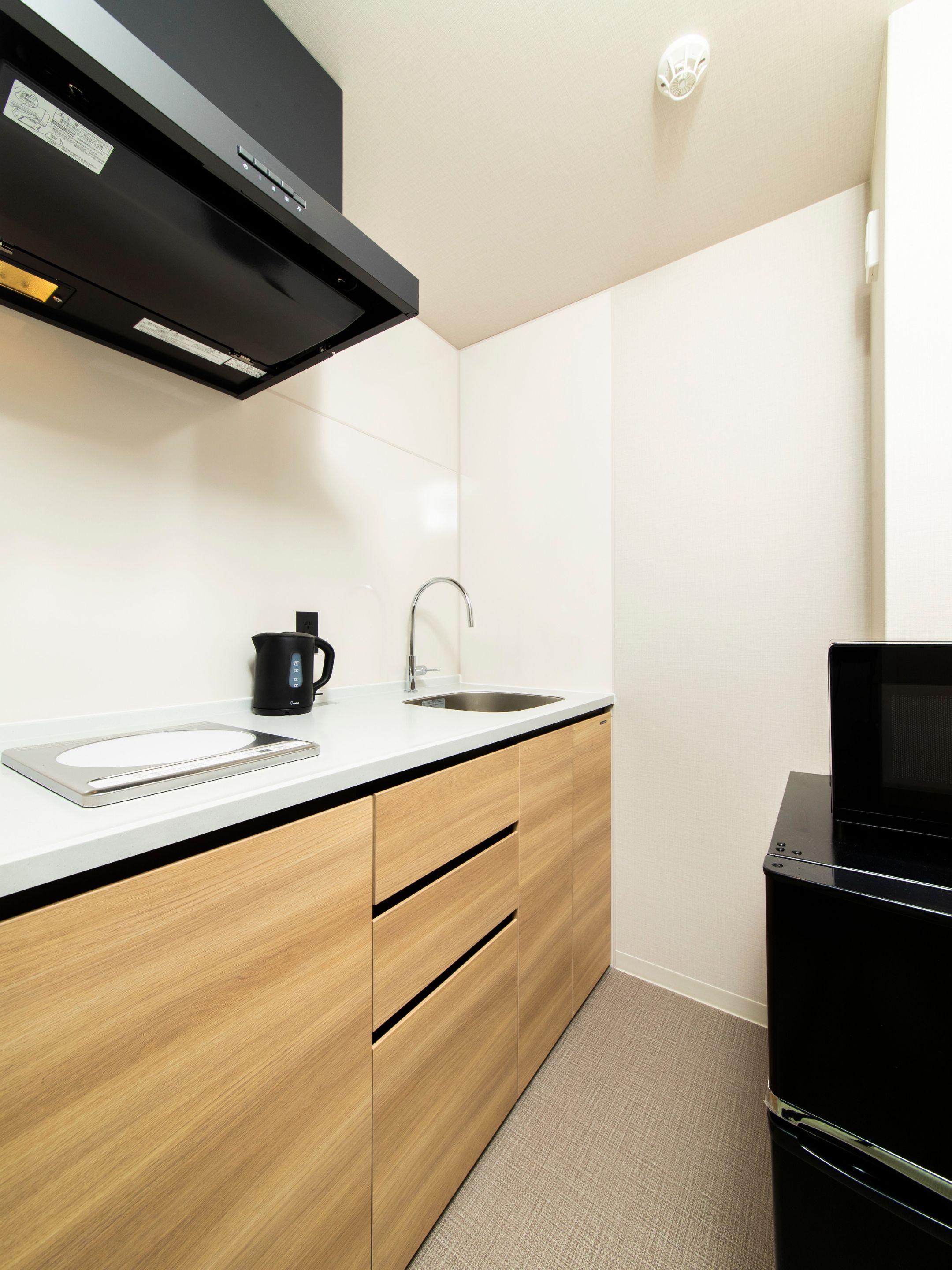 キッチンはこちら。しっかりと作業スペースもあって使いやすそう。