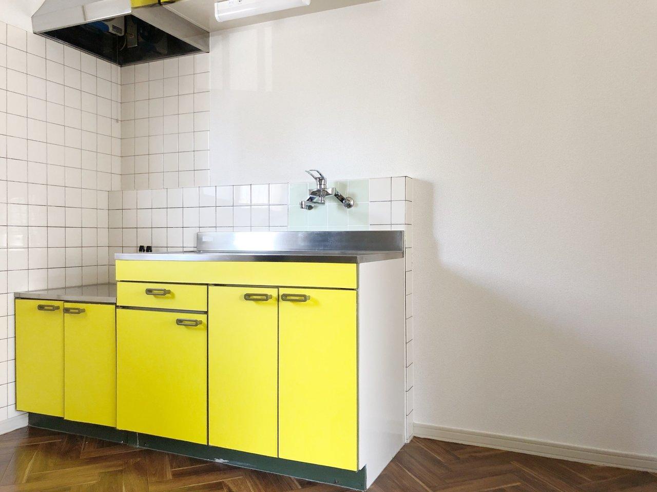 キッチンはビタミンカラーのイエロー