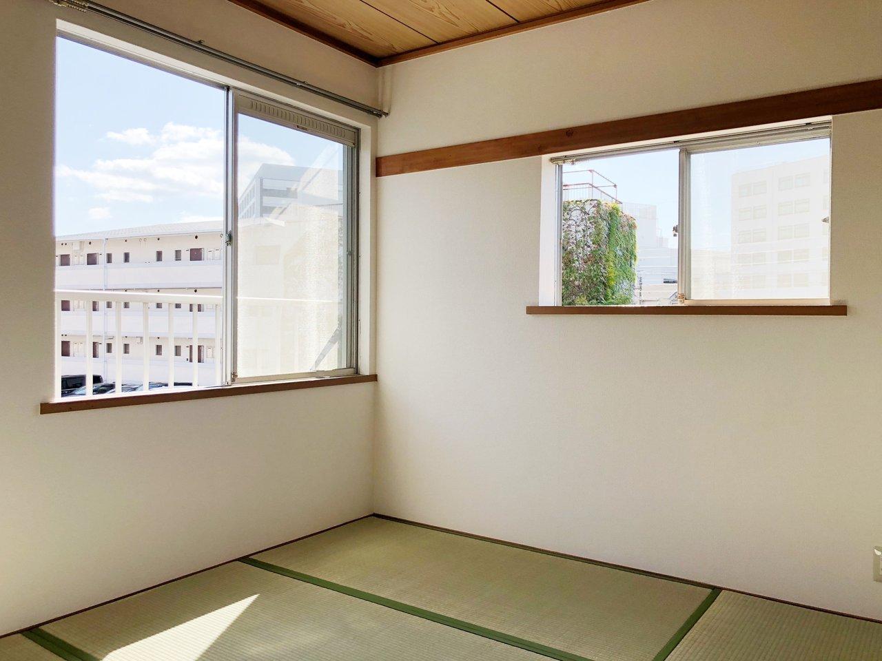 もうひとつのお部屋は和室です。畳でゴロゴロするのも気持ちよさそう。