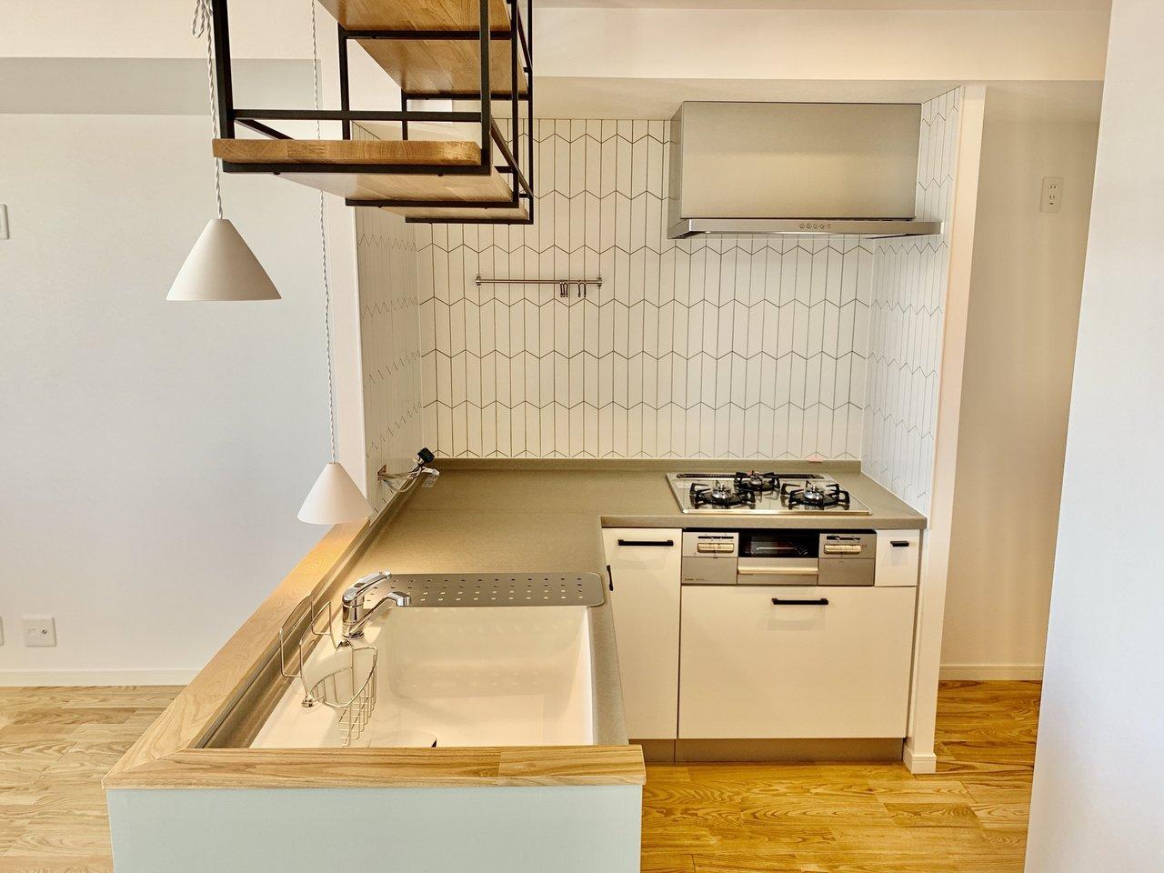 キッチンをL字の対面キッチンに!(写真はイメージです)