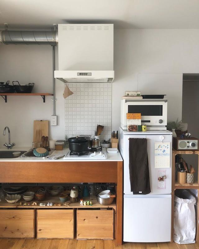 お部屋の中で一番気に入っているというキッチンは、Instagramの投稿でもよく登場する場所。
