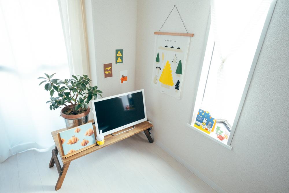 「内覧をした際に、2面採光で日当たりの良さが好印象でした。加えて壁や床が白く、癖のない物件だったので、好きなインテリアを加えていきやすいと思ったんです。」