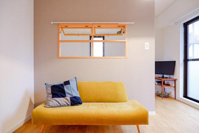 間取りは広めのワンルーム。L字型になっているので、寝室とリビングをゆるやかに分けられそう。※写真はイメージです