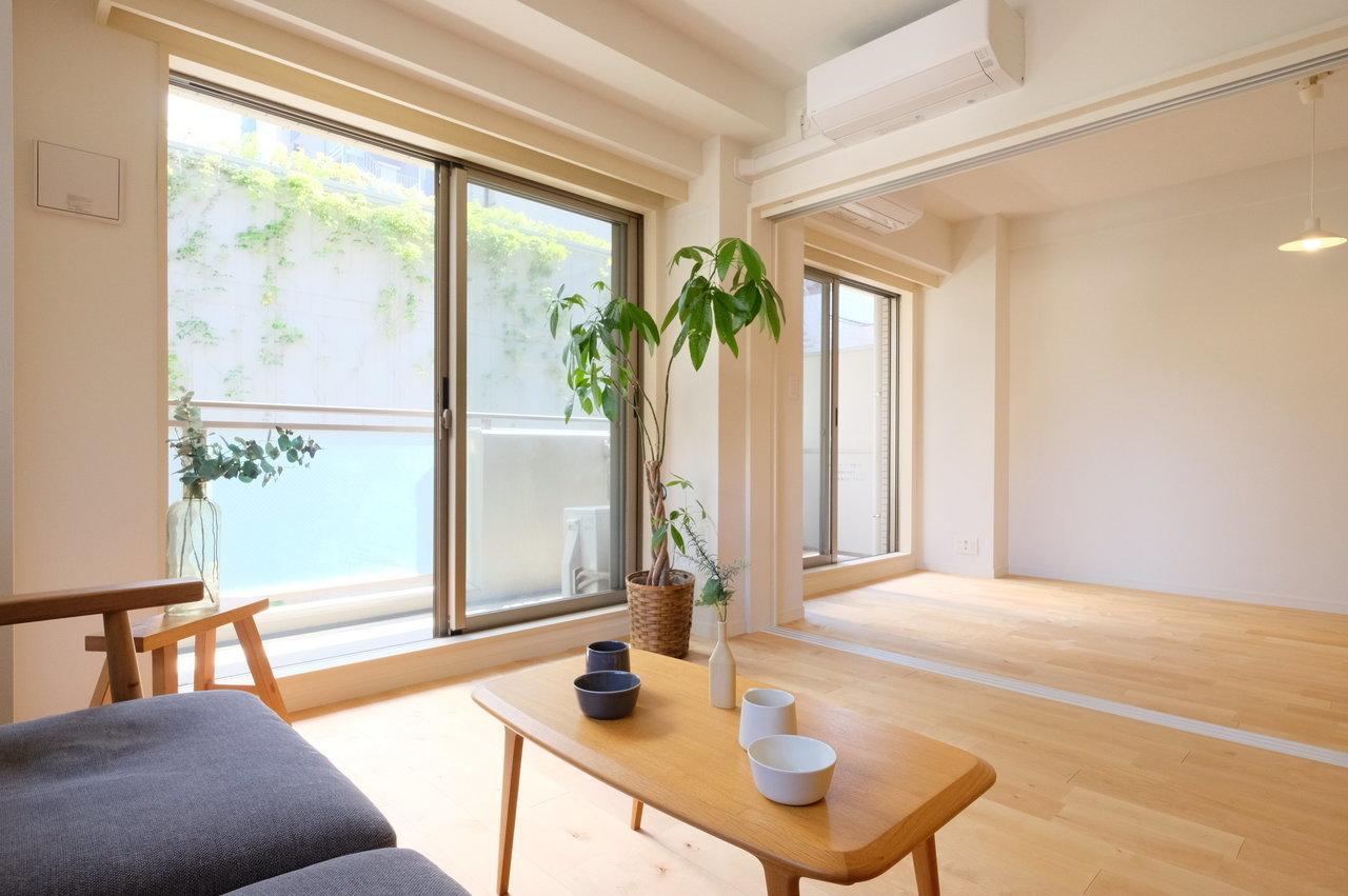 最後は18.5畳の広々としたリビングがある、3LDKのお部屋。二人暮らしや、ファミリーで住む方におすすめです。