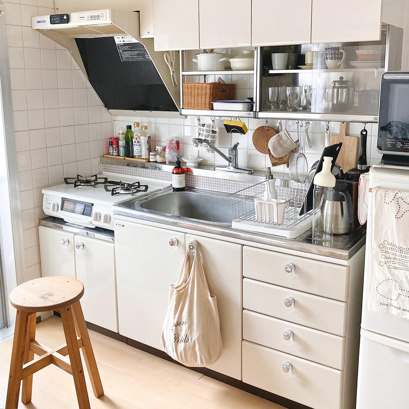 「いかにも団地のキッチン」というレトロ可愛さがとても気に入っていると maatona さん。