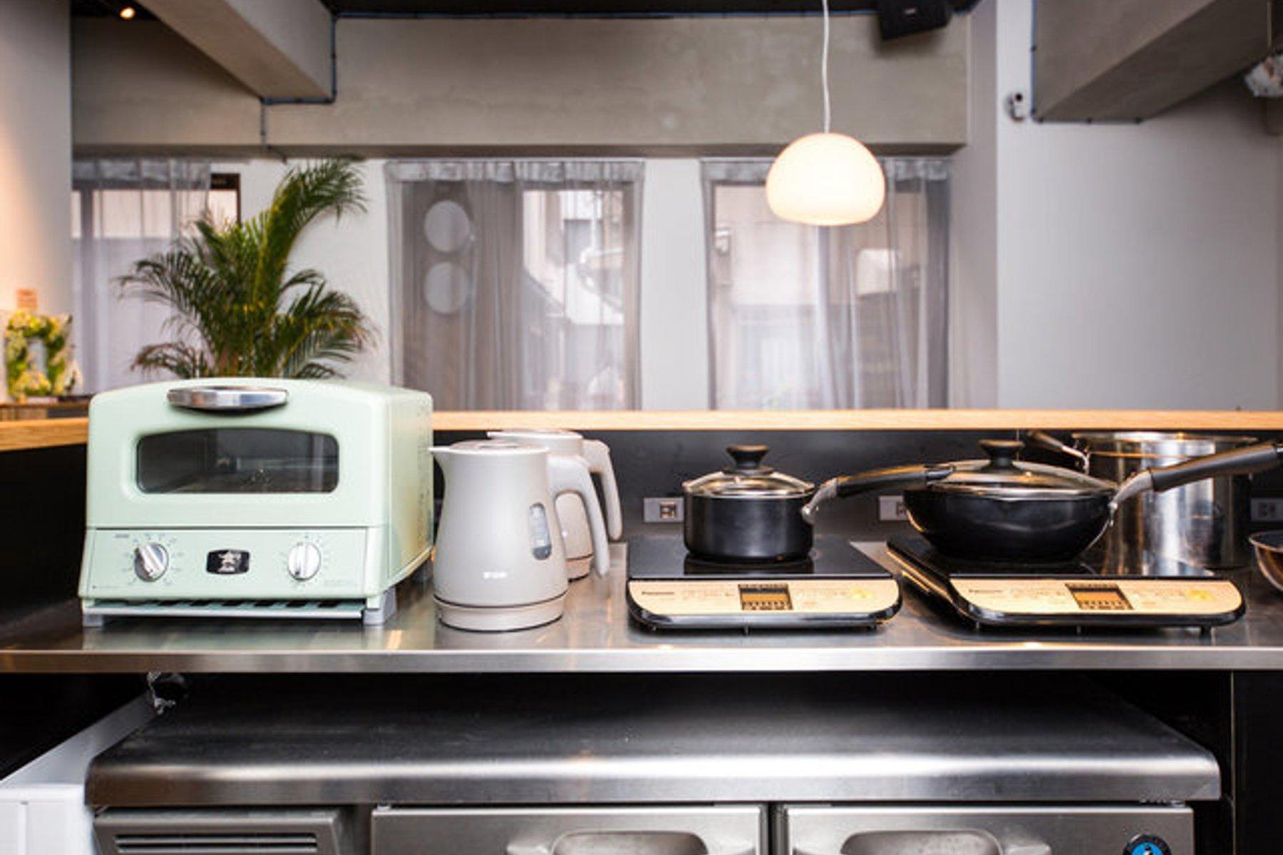 シェアキッチンも併設されています。できるだけ自炊がしたい、人がいる感じがほしい。そんな方におすすめです。