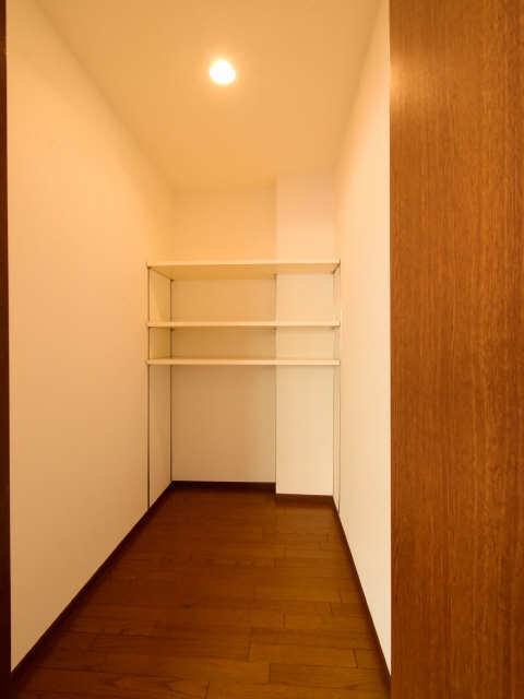 かなり広めのウォークインクローゼットもありました。まるで小さな一つのお部屋みたい。荷物が多い方でも安心です。