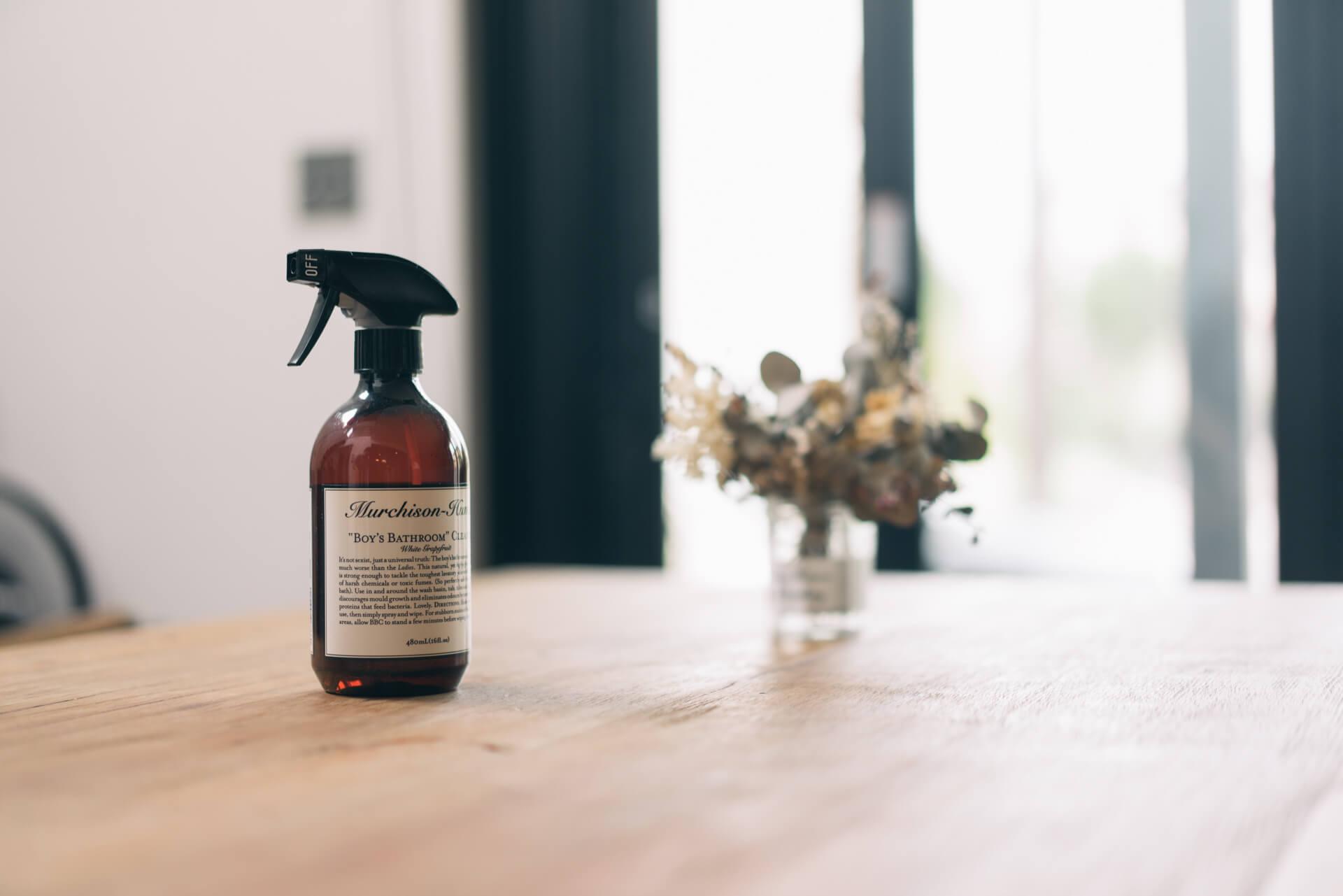 洗剤も、良い香りやデザインのものを選ぶとテンションが上がります。こちらはマーチソンヒュームのフードセーフ スプレー。(このアイテムはこちら)