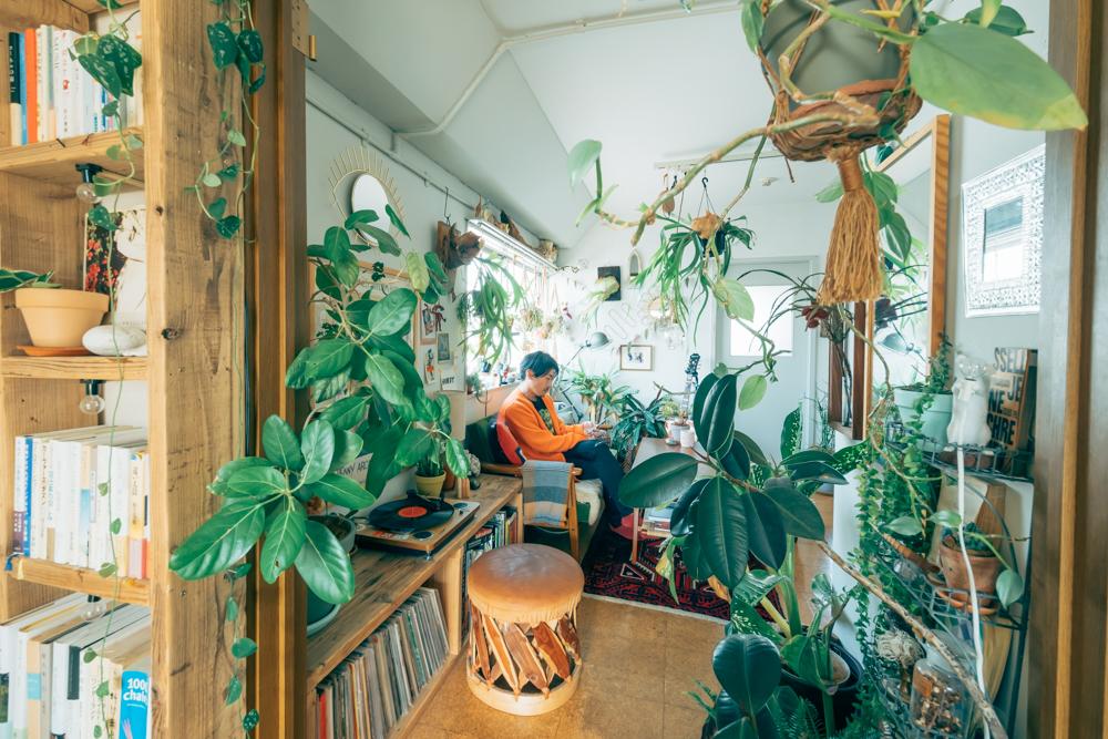 都内レトロマンションで100の植物と暮らす。全ての緑が住空間の中でデザインされた1DK 35㎡、一人暮らしのインテリア