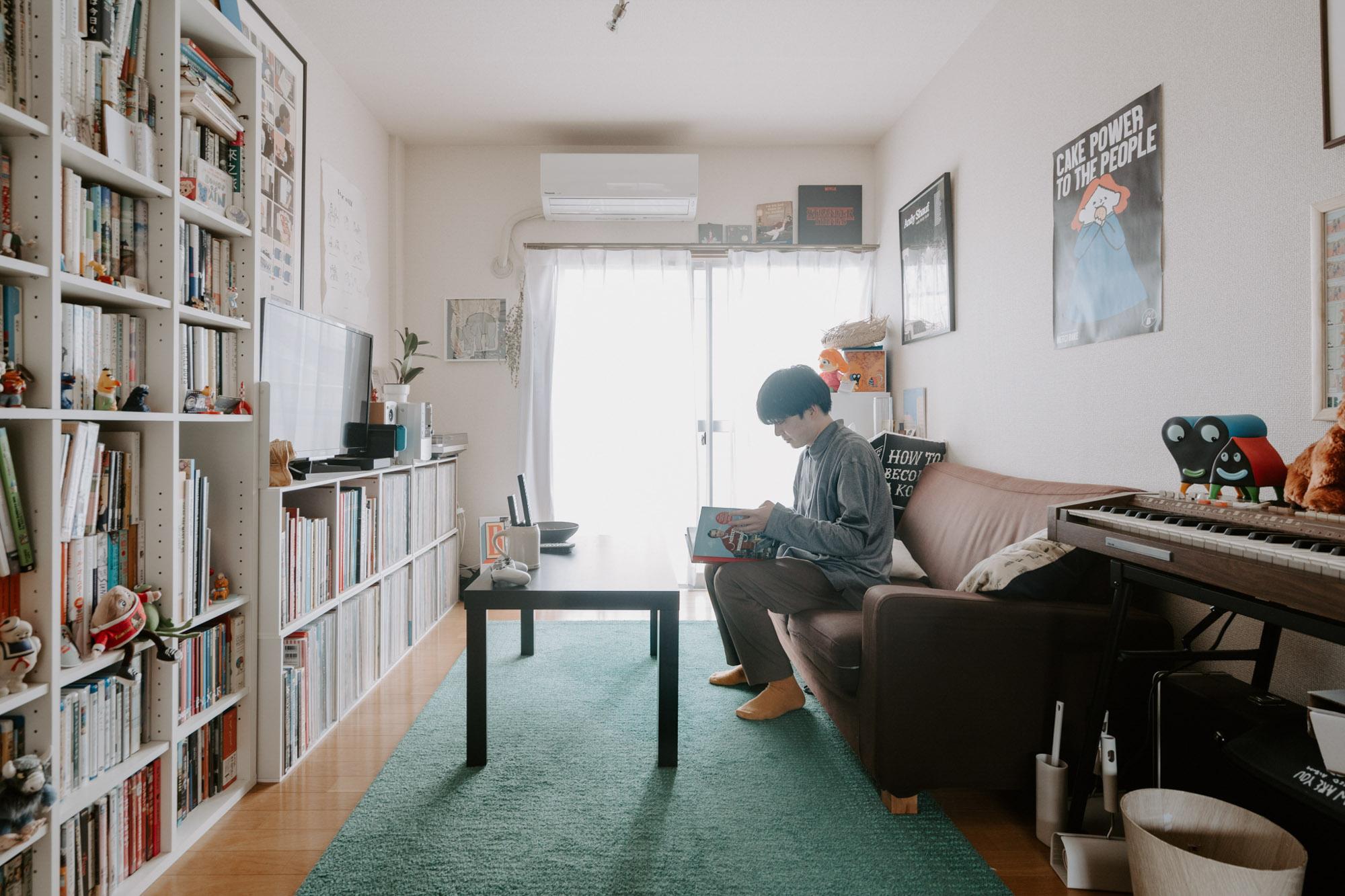 福富優樹さんの「ルーツに囲まれた部屋」から。Homecomings メンバーによる暮らしの連載がスタートします