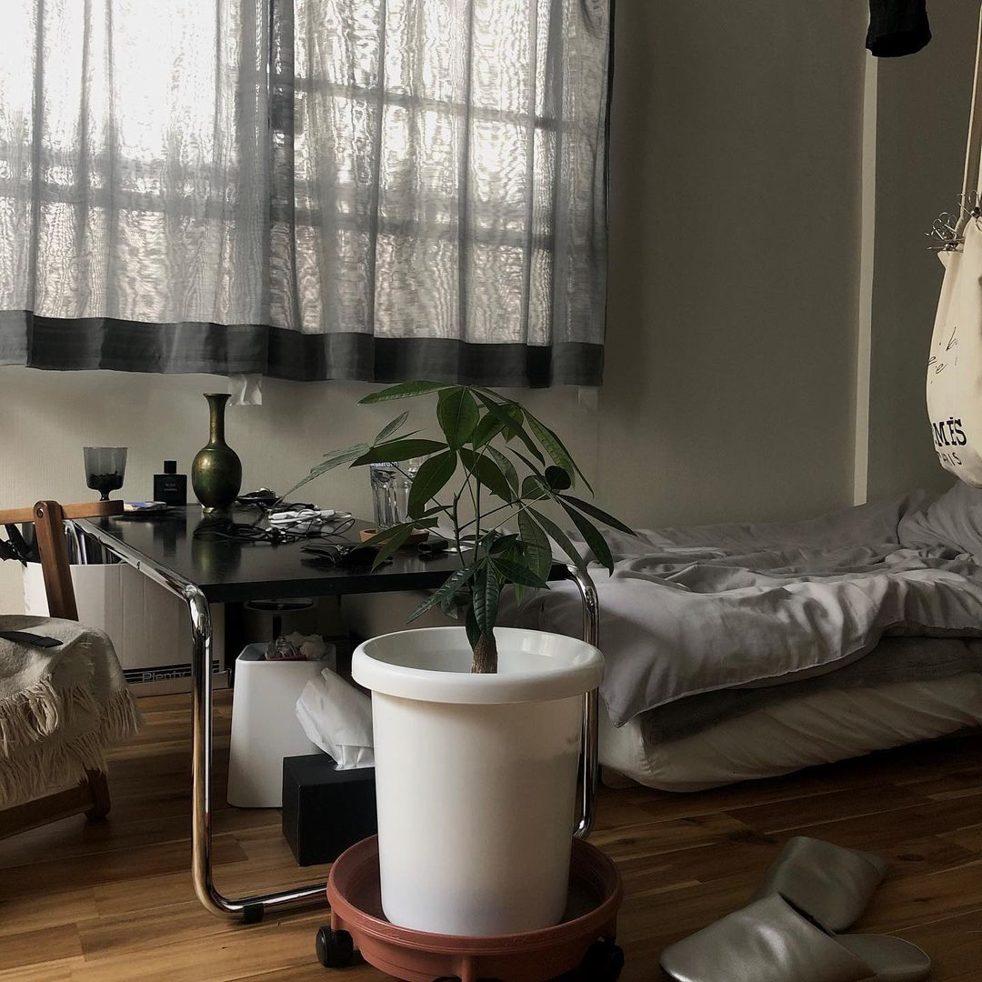 例えば、レース生地のベッドカバーを折ってカーテンとして利用したり。