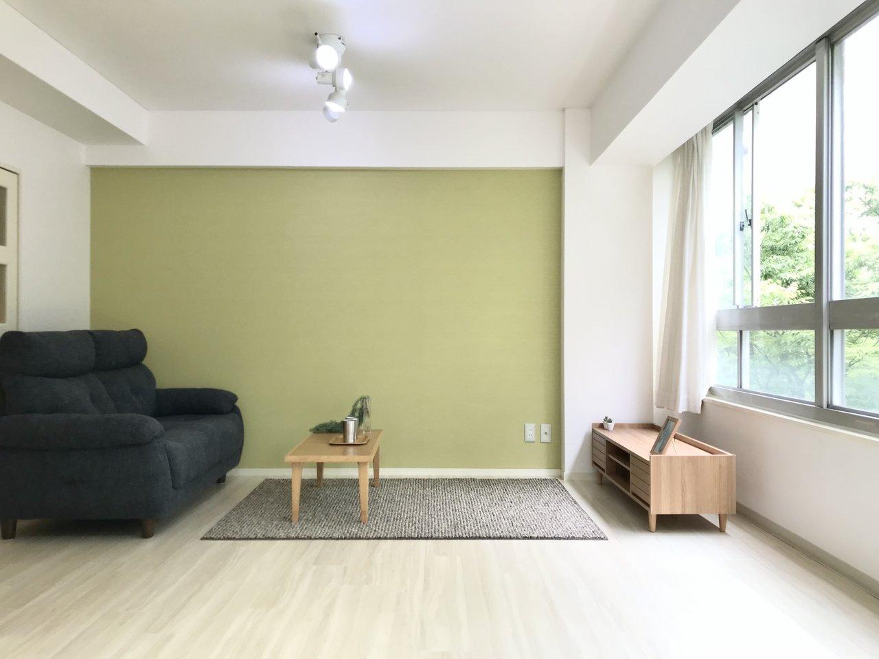 10.4畳の横長の居室。使い勝手も良さそうです。