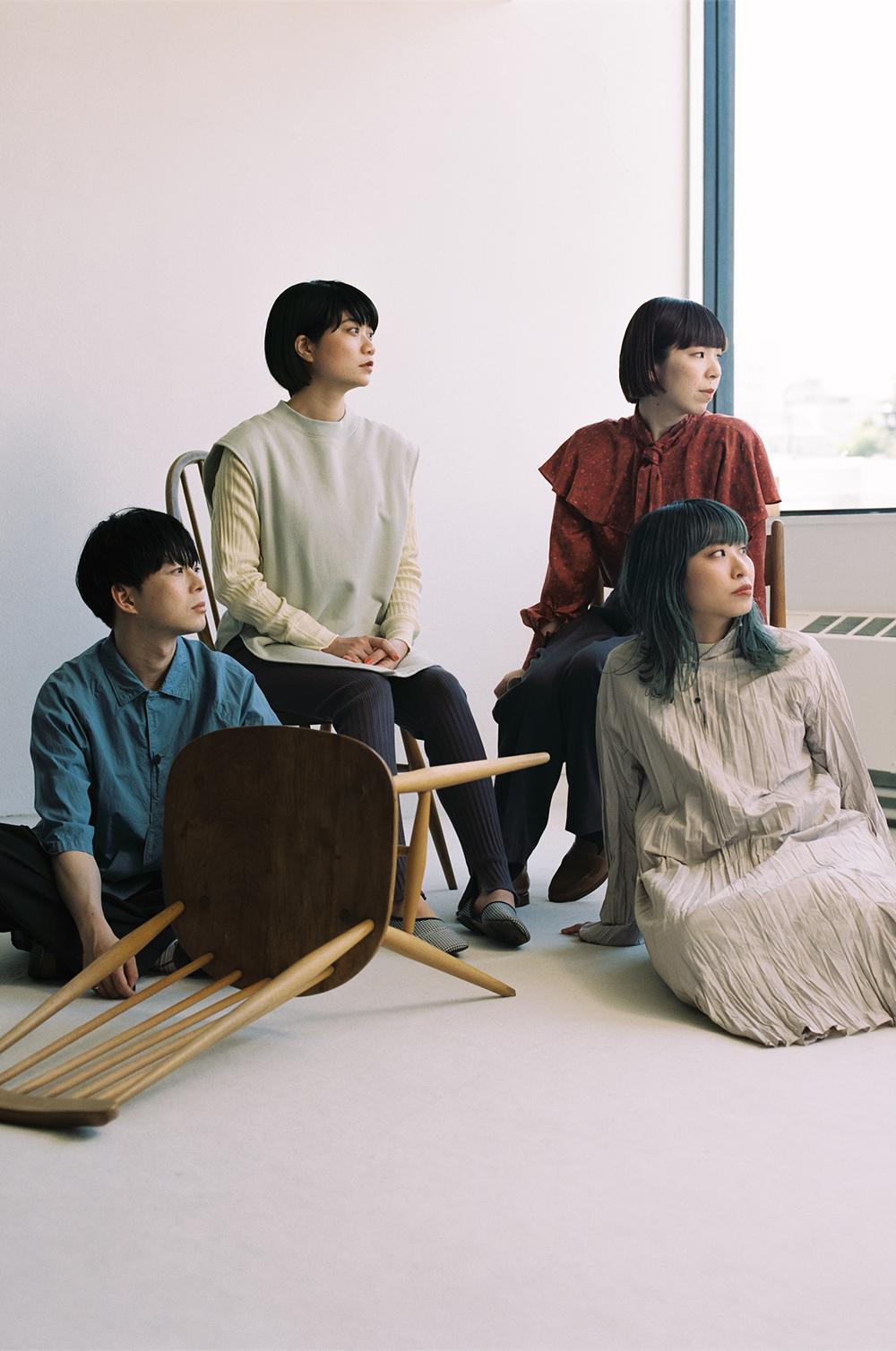 写真左から、福富優樹さん(Gt.)、畳野彩加さん(Vo./Gt.)、石田成美さん(Dr./Cho) 、福田穂那美さん(Ba./Cho)