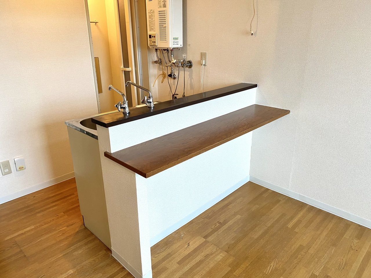 キッチンはカウンター付き。ダイニングスペースとしても、仕事スペースとしても活用できます。