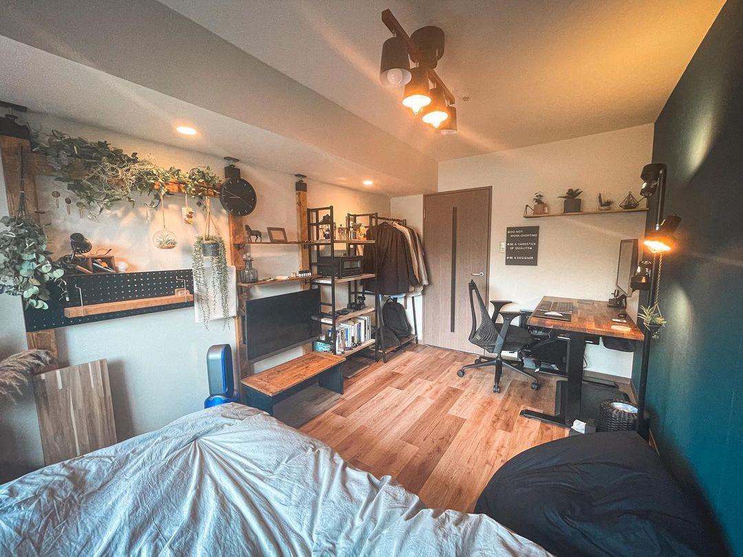 快適さとデザイン性を両立する、6畳の一人暮らしインテリア