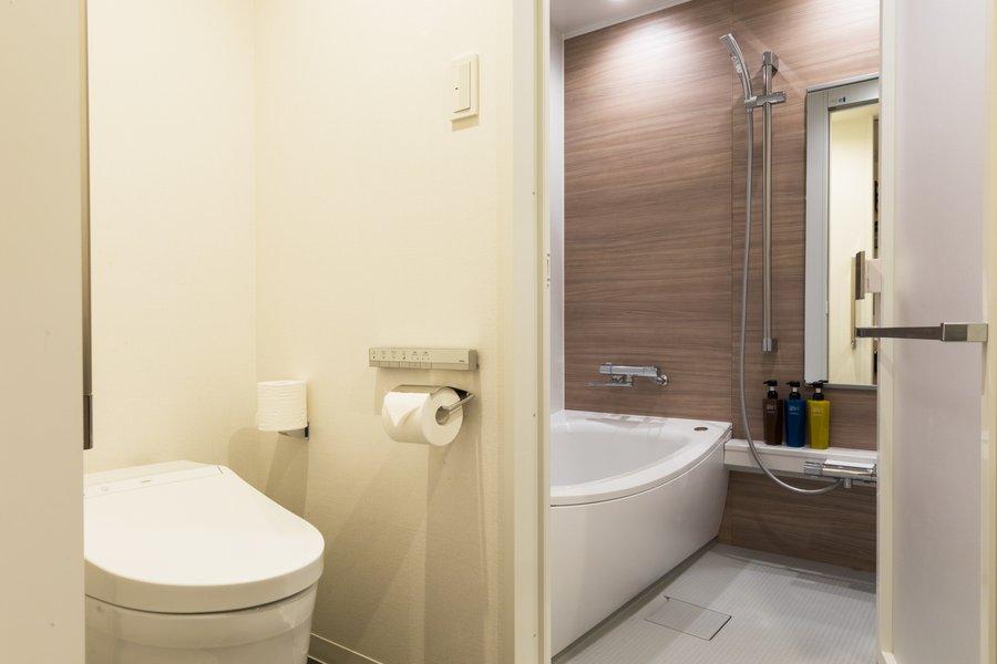 トイレとバスタブが完全に切り離されているので、賃貸で生活しているときと同じように、湯船に浸かる生活を楽しめそうです。毎日の疲れをしっかりとることができますね。