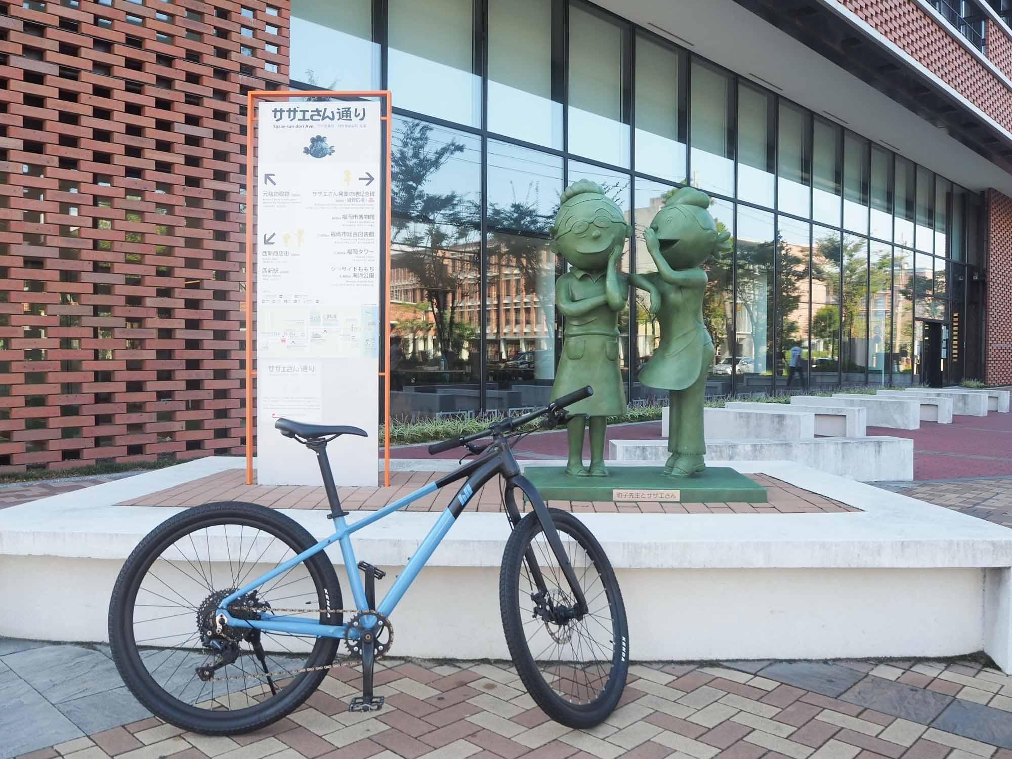 「サザエさん通り」沿いには銅像がありますよ。