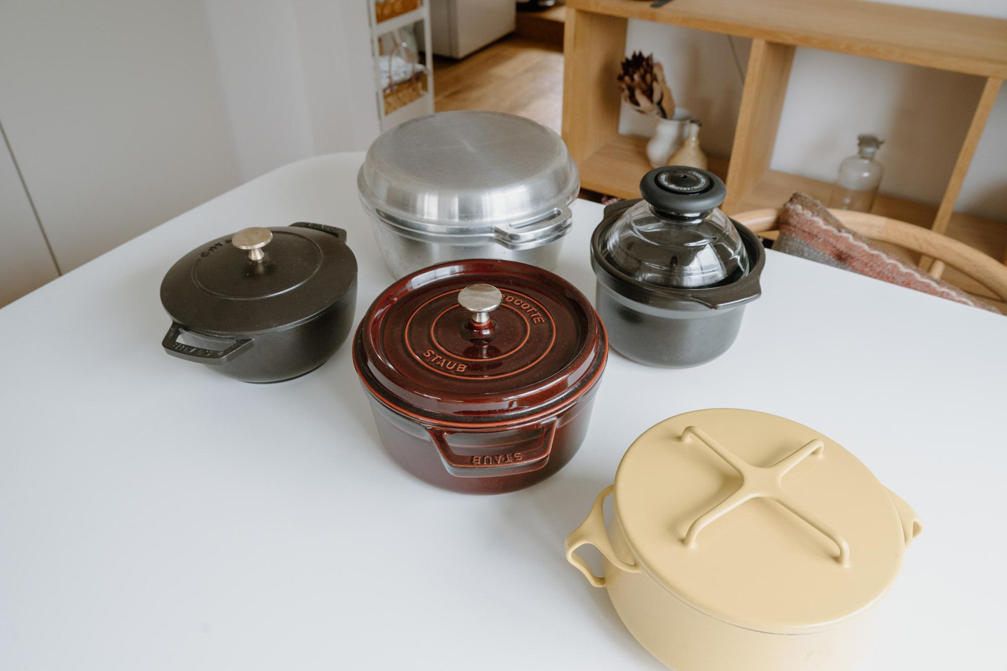 料理の道具もこだわったものを揃えていらっしゃいます。特に、STAUBの鍋は使い勝手もよく気に入っているそう。